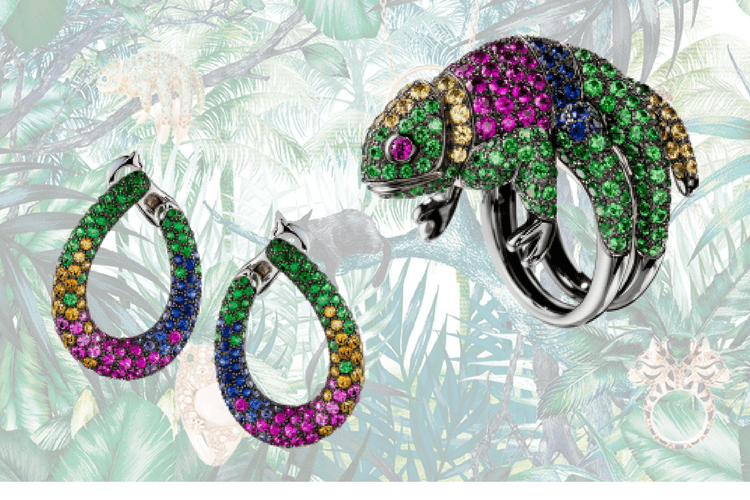 Boucheron Chameleon Ring Earring Blog animalier