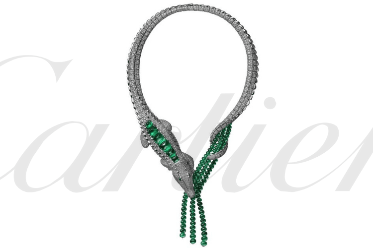 CartierCrocodileJewelry Necklace GreenEmeraldDiamond