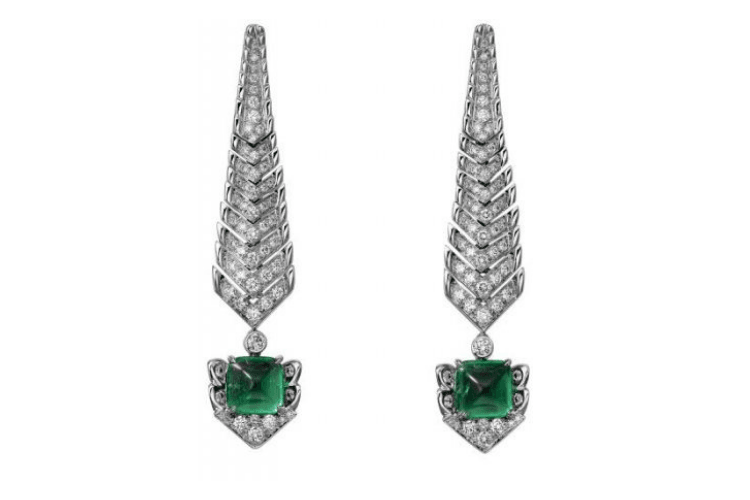 CartierCrocodile EarringsJewelry emerald