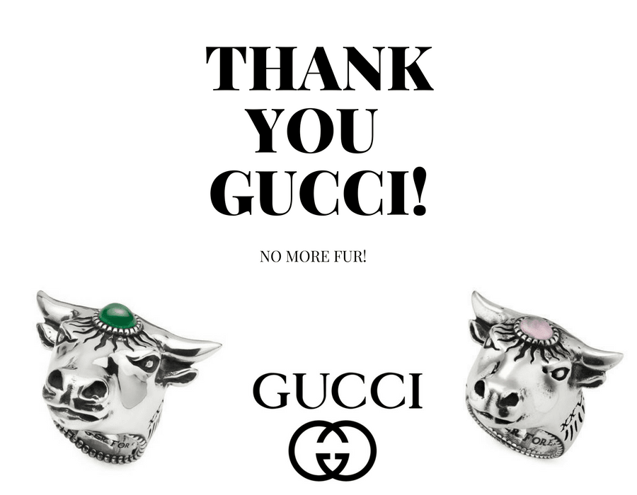 NO MORE FUR! Thank you, Gucci!