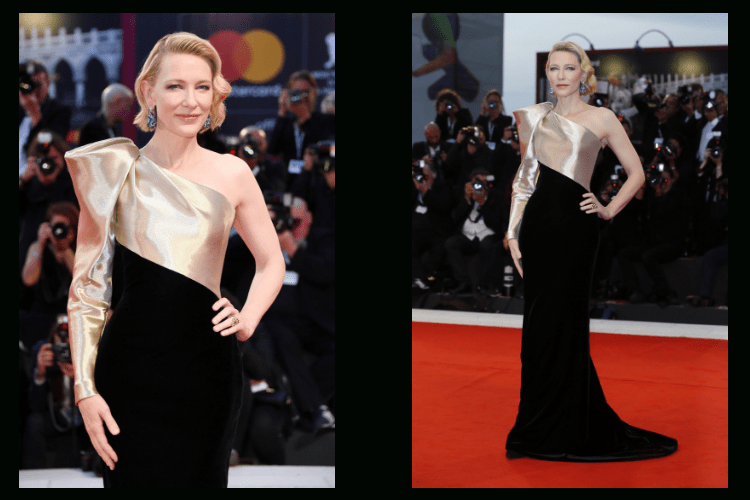 Cate Blanchett Chopard Earrings jewelry red carpet Venice haute joiallerie