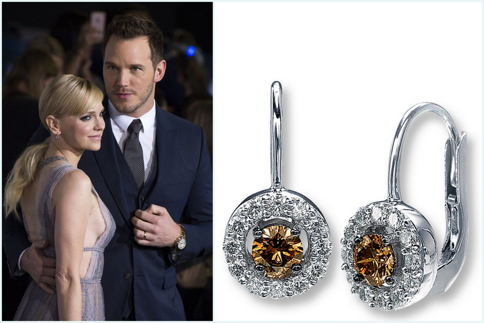 Anna Faris ChrisPatt jewelryLeVian