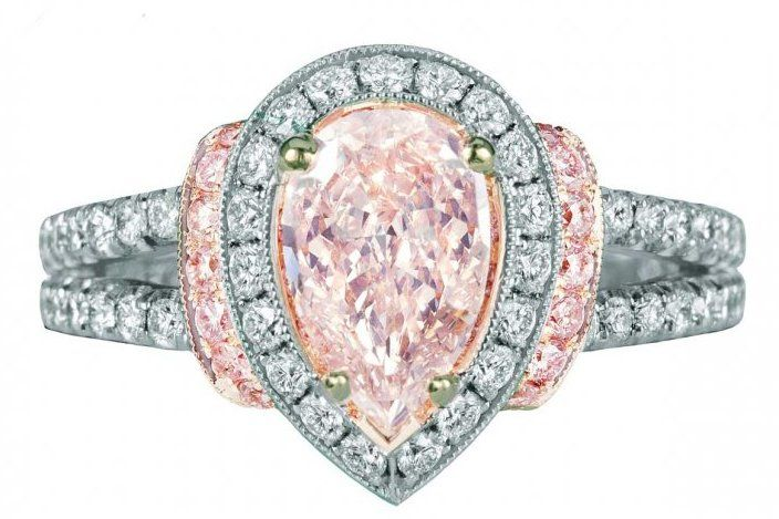 Pink and white diamonds platinum Jack Kelege