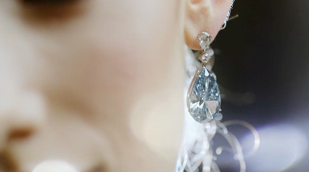 earrings most expensive apollo artemis sothebys Blue Diamond