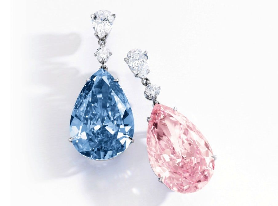 earrings most expensive apollo artemis sothebys Blue Pink Diamond