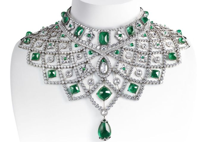 Faberge ethically and fairtrade mined stones gemfield Emerald necklace Romanov collar 001