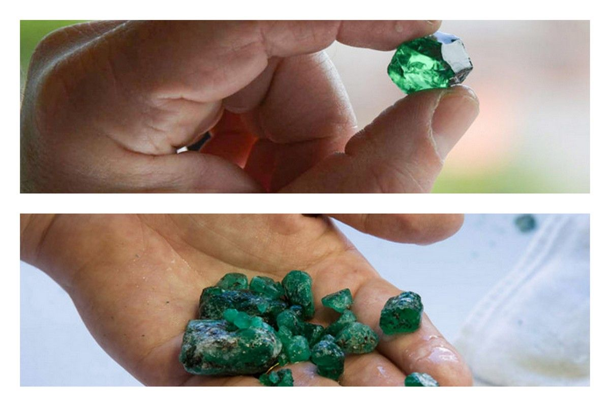 gemstone green emerald video gem wedding hd animation spinning stone stock