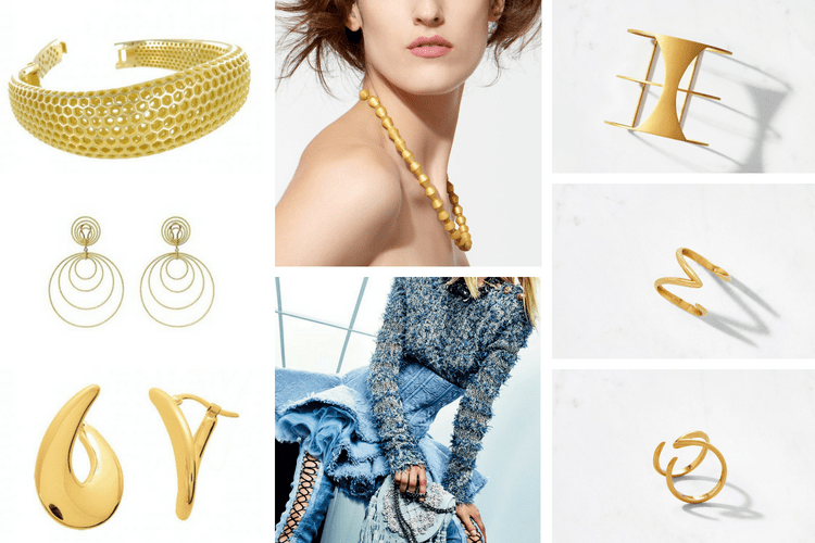 Trend 2019 2018 Jeans Jewelry Balmain Auvere Masviel ChristopheAmestoy Buccellati ring bracelet necklace gold