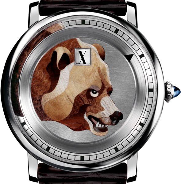 Fluffy Cartier Watch Bear