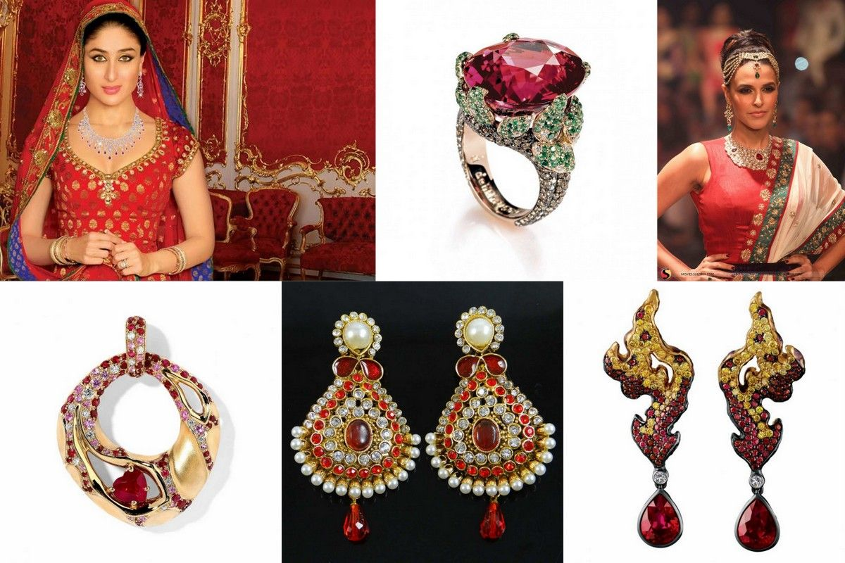 Red jewelry Indian inspiration