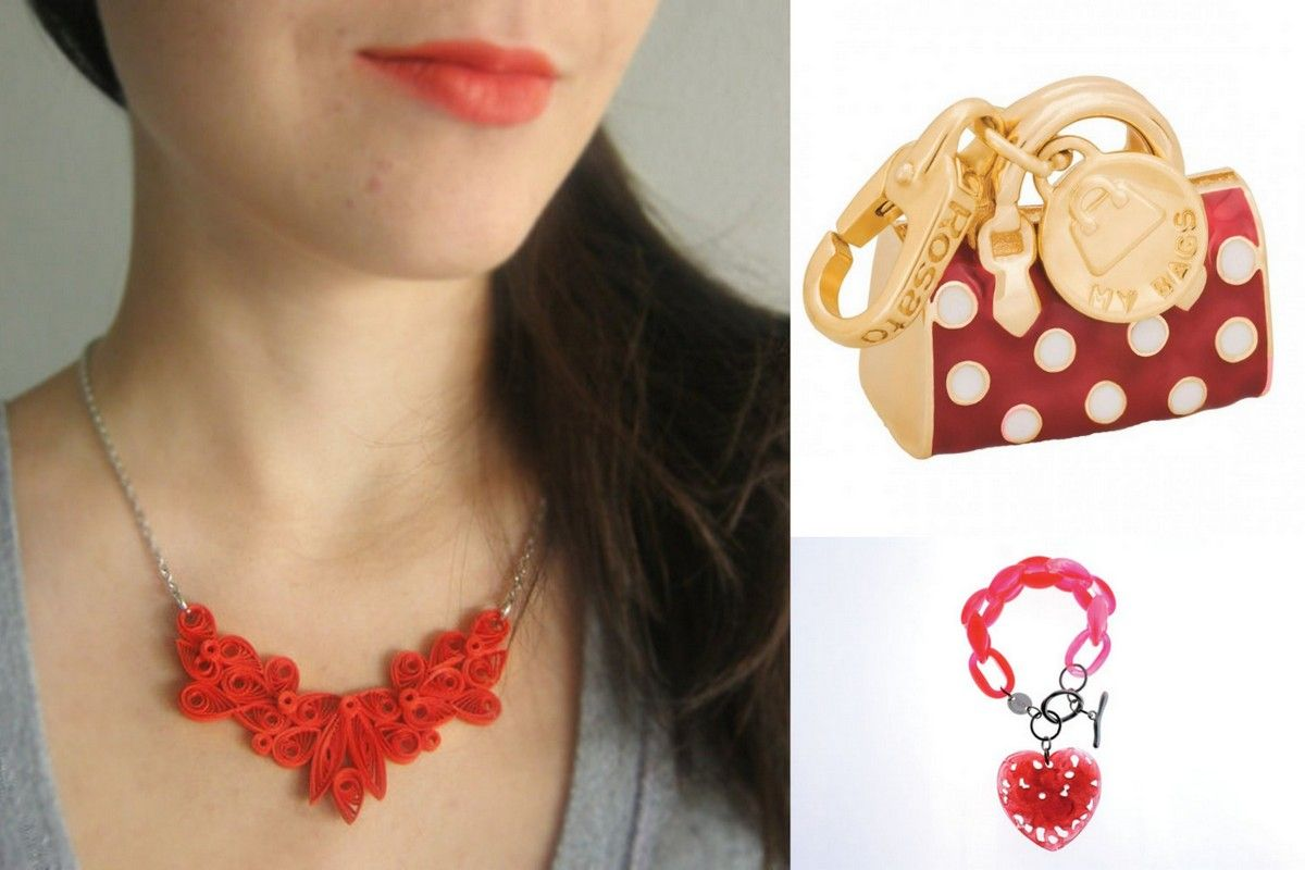 Red jewelry fashion