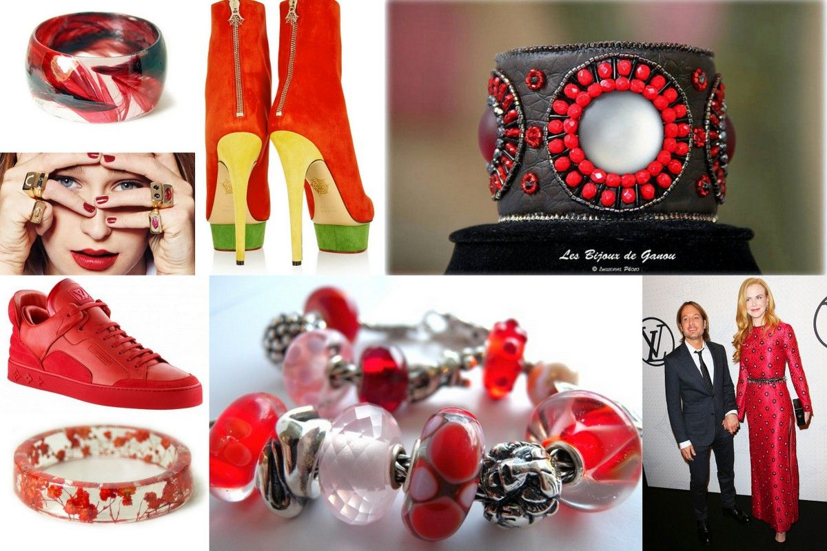 Red jewelry fashionboots