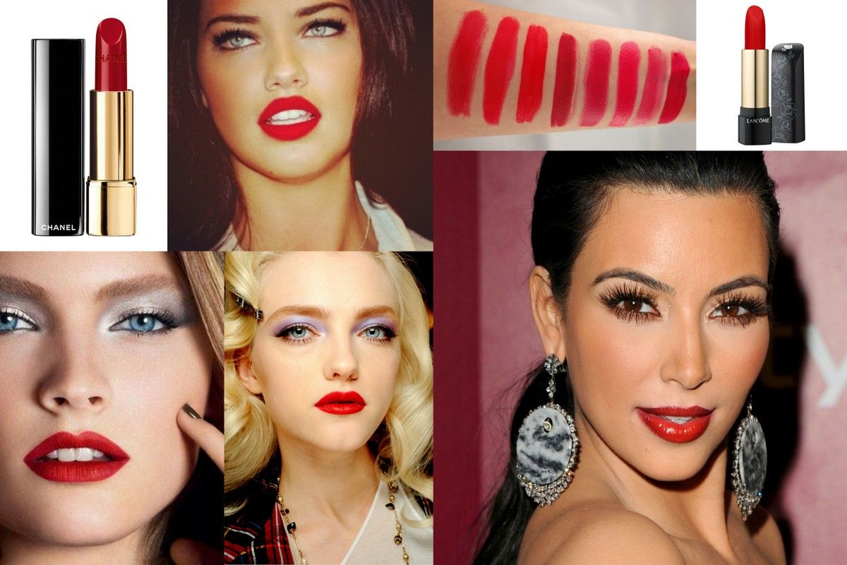 Red jewelry lipstick Kim kardeshian