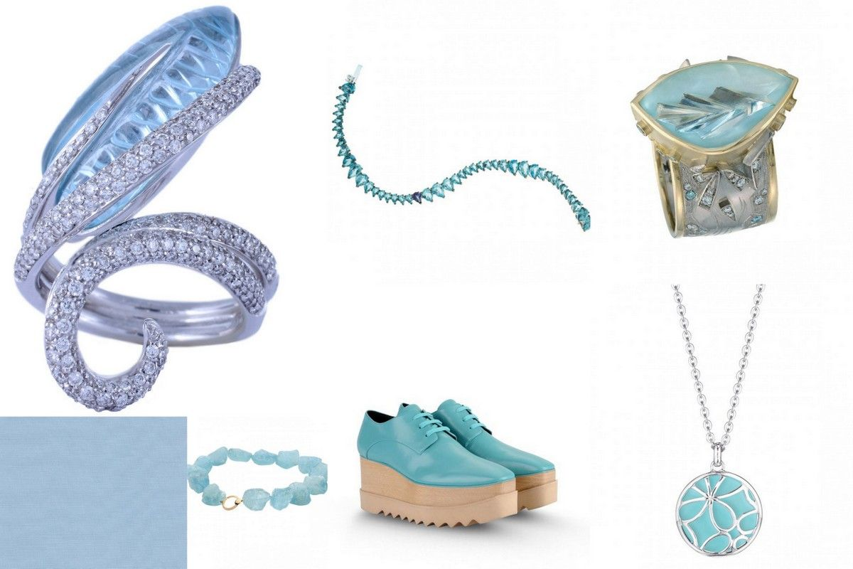 Trend Colors 2015 Spring Aquamarine jewelry stella cartney