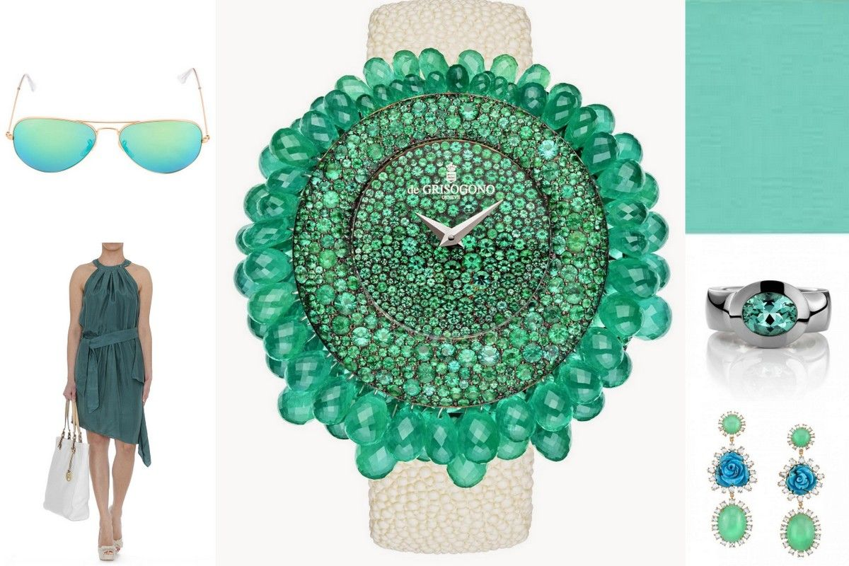 Trend color green 2015 jewelry trend