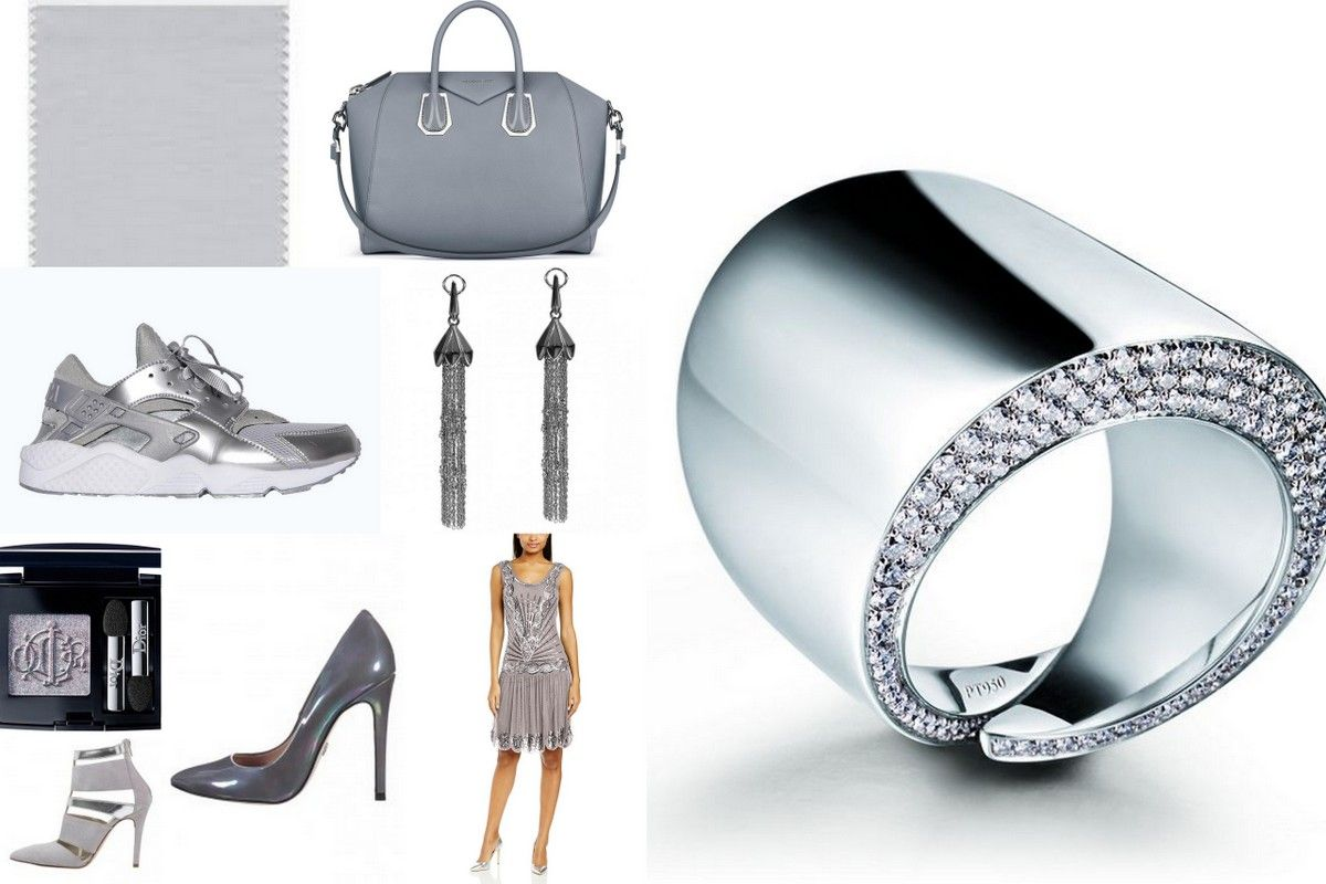 Trend colors glacier gray grey jewelry fashion