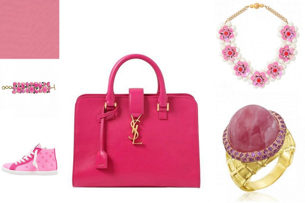 Trend colors pink strawberry accessories jewelry