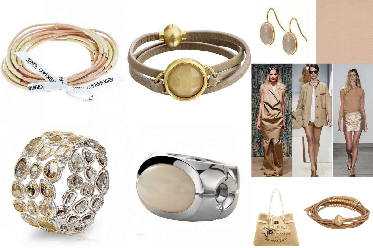 Trend colors spring 2015 neutral toasted almond nude jewelry