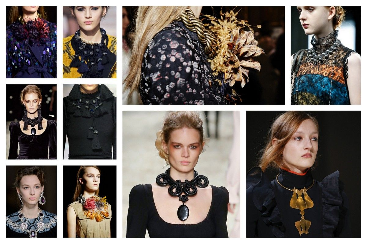 TRENDS Fall 2015 Fashion accessories jewelry chunky necklaces driesvannoten TomFord MiuMiu Lanvin