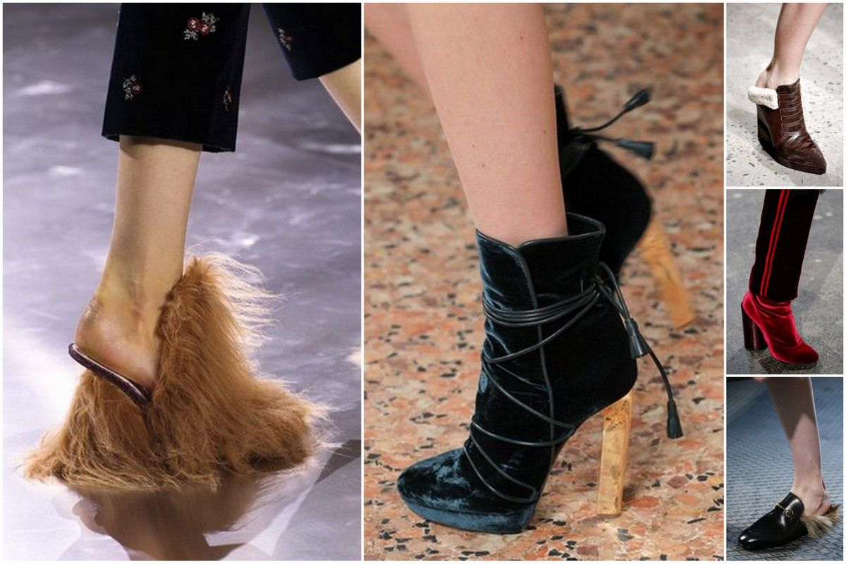 Trends Fall 2015 fashion shoes furry velvet Gucci