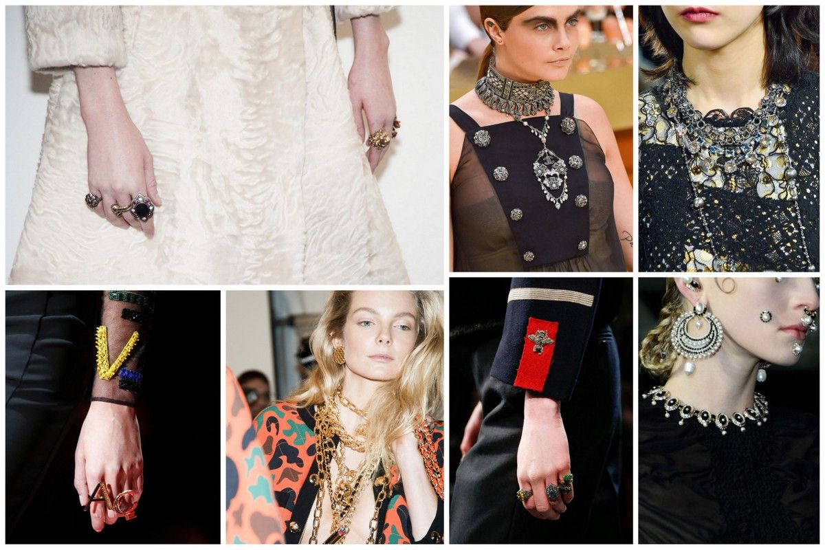 Trends fall 2015 fashionstacking jewelry gucci ginvenchy Versace