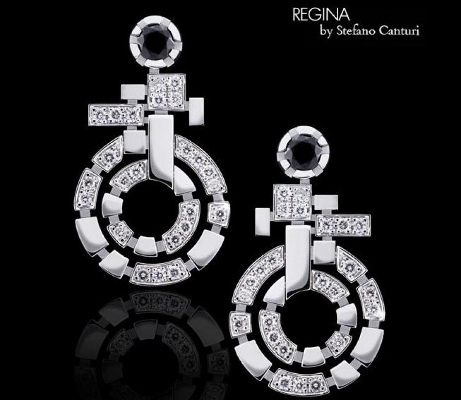 New Canturi earrings; Regina