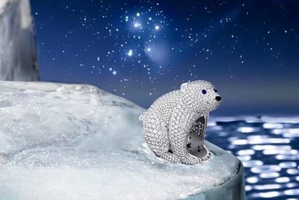 Polar bear jewelry with a message