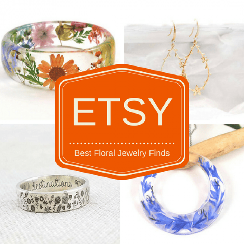 My Floral Jewelry finds on Etsy