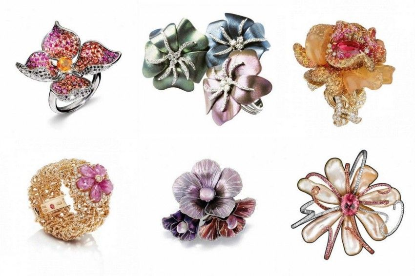 Magnificent flower jewelry, pick your favorite ring or brooch!