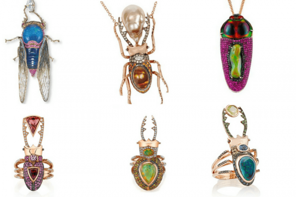 Must see jewelry! Colorful beetles and bugs turned into fairytale jewelry