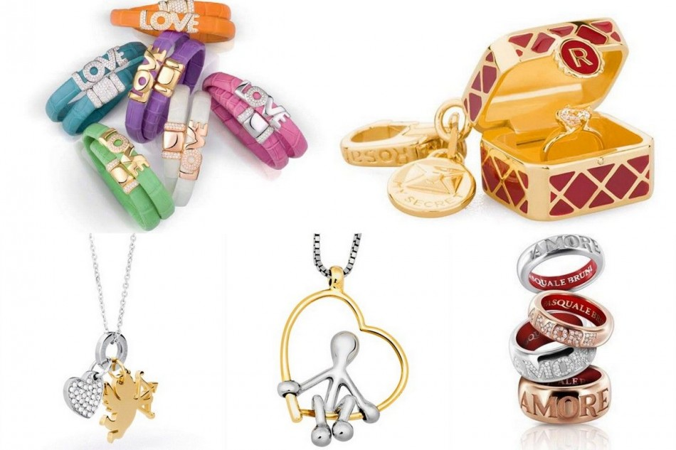 Valentine and jewelry, love and hearts