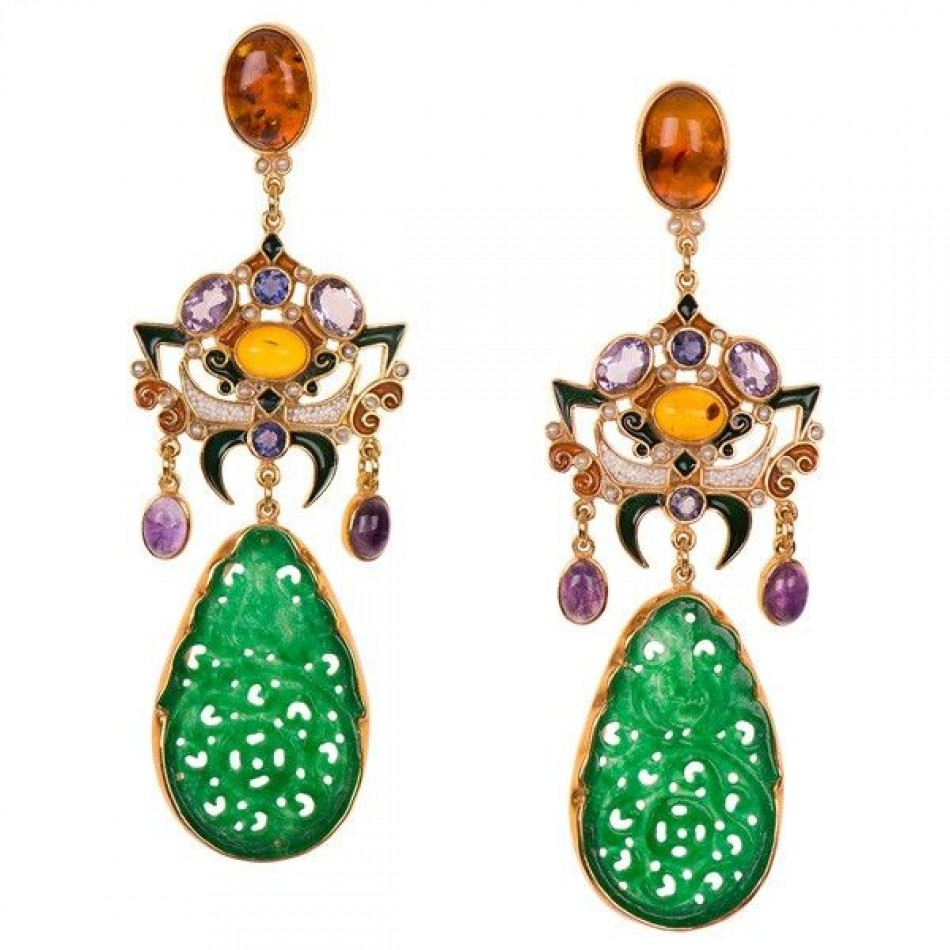 Gorgeous jewelry with a touch of green
