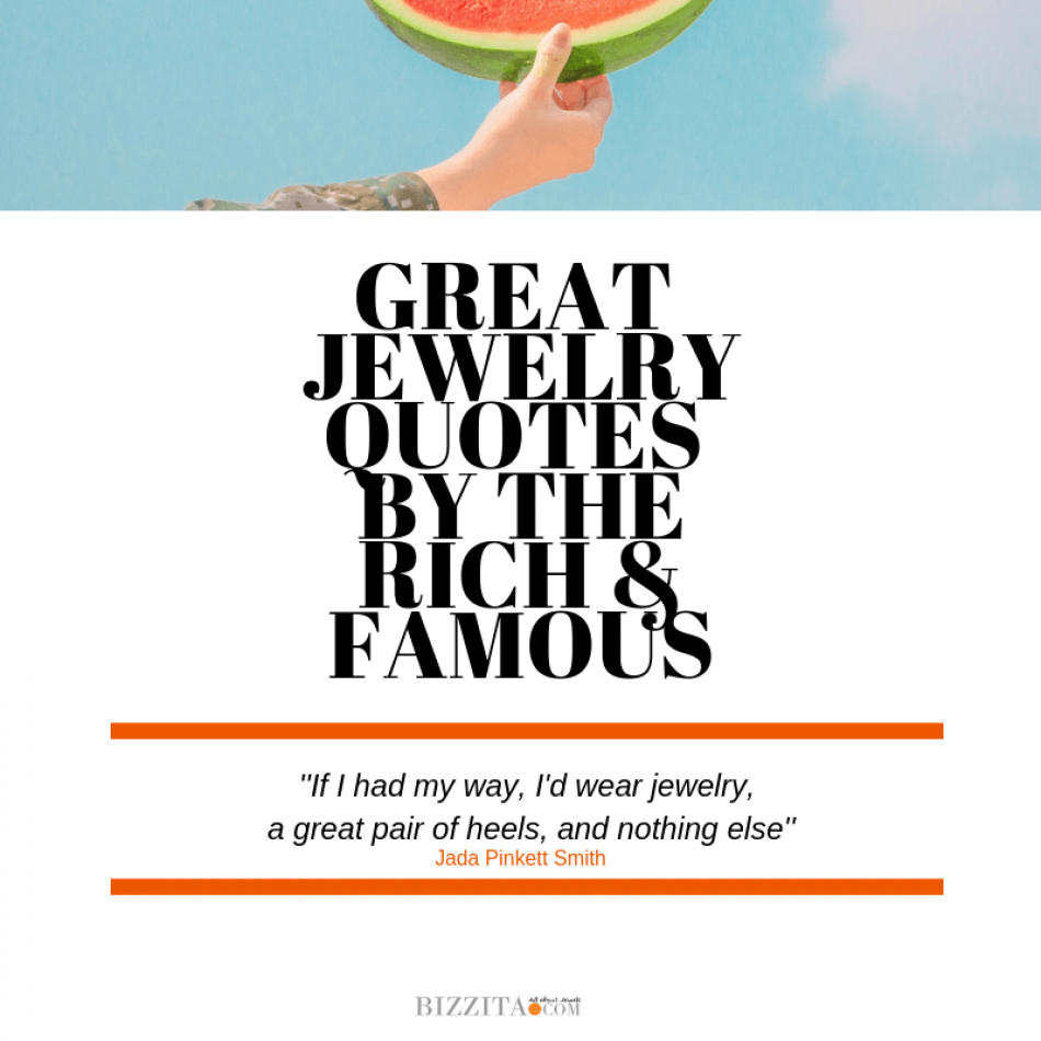 Famous people's quotes on jewelry!