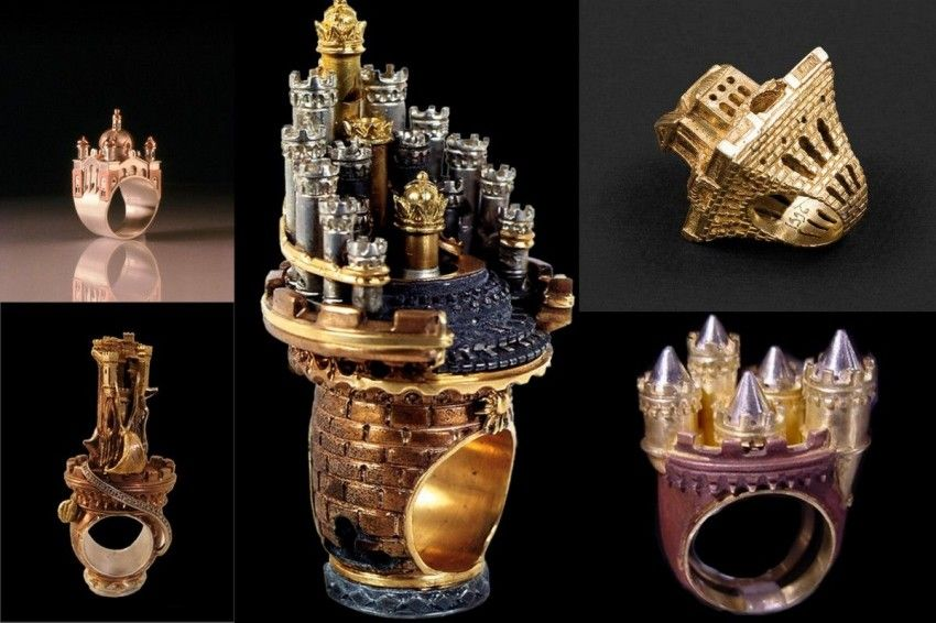 Architectural rings, how to wear cities on your finger!
