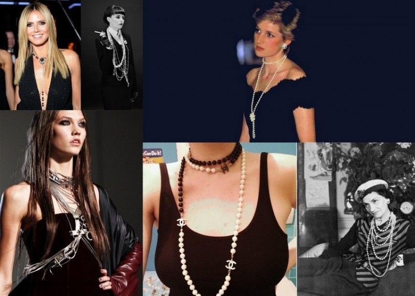 How to wear a long necklace